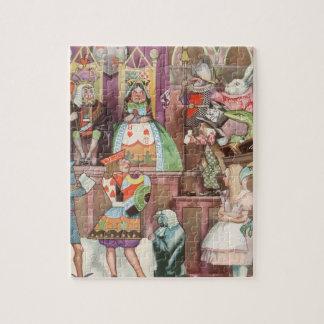 Vintage Alice im Wunderland, Königin der Herzen Puzzle