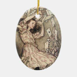 Vintage Alices Abenteuer im Märchenland durch Keramik Ornament