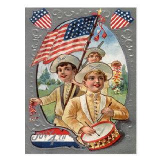 Vintage am 4. Juli Feier Postkarten