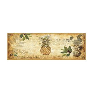 Vintage Ananas-Leinwand-Wand-Kunst Leinwanddruck