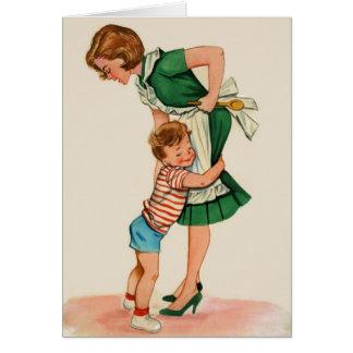 Vintage Anmerkungs-Karte der Mutter-und Grußkarte