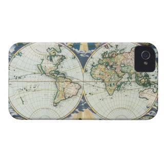 Vintage antike alte Weltkarte, 1666 durch iPhone 4 Case-Mate Hüllen