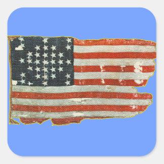 Vintage antike amerikanische Flaggen-Aufkleber