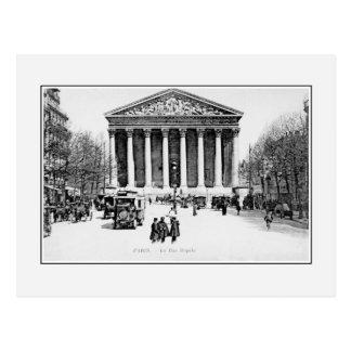 Vintage antike Paris-Rue Royale Madeleine Kirche Postkarte