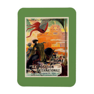 Vintage antike Romausstellungs-Reiseanzeige 1911 Magnete