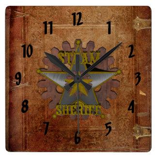 Vintage antike SteamPunk Sheriff-Wand-Uhr Uhr