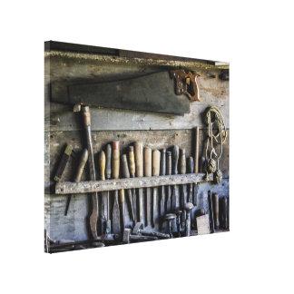 Vintage antike Werkzeuggalerie-Leinwand Leinwanddruck