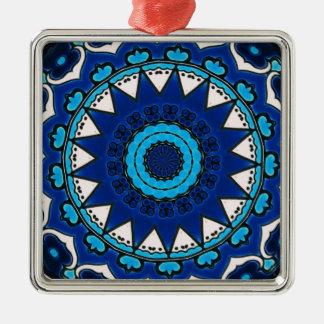 Vintage ARABISCHE Fliese Iznik, die Türkei, 16. Silbernes Ornament