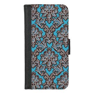 Vintage Art-blauer iPhone 8/7 Geldbeutel-Hülle