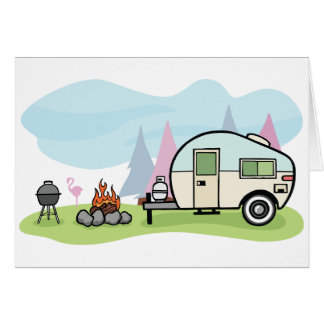 Vintage Art-Camper-Gruß-Karten Karte