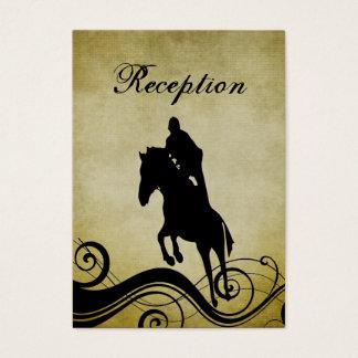 Vintage Art-Hochzeits-Empfangs-Reiterkarte Visitenkarte