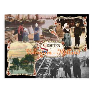 Vintage Art Holland-Postkarte Volendam Postkarte