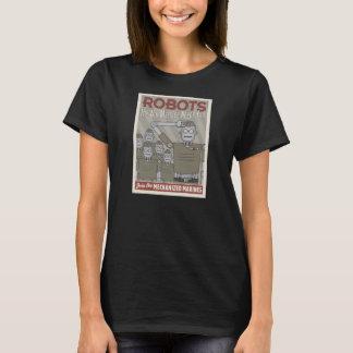 Vintage Art-Roboter-Militär-Propaganda T-Shirt