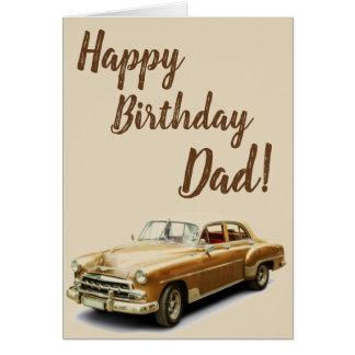 Vintage Auto-alles- Gute zum Geburtstagkarte für Karte
