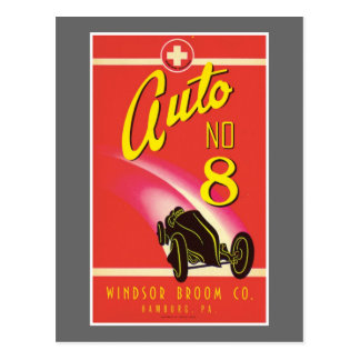 Vintage Auto-Auto-Produkt-Aufkleber-Kunst Postkarten