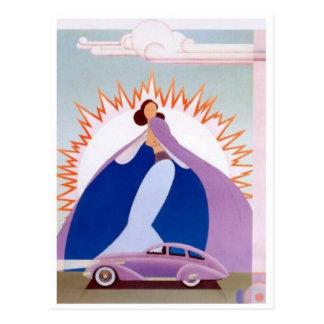 Vintage Auto-Postkarte Postkarte