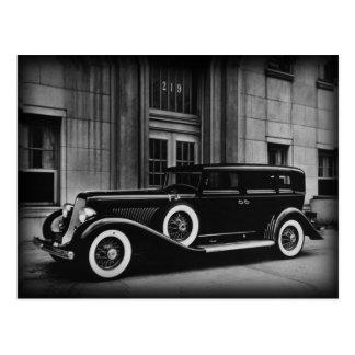Vintage Auto-Schwarzweiss-Fotografie Postkarte