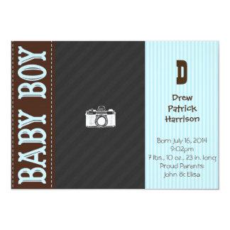 Vintage Baby-Jungen-Geburts-Mitteilung 12,7 X 17,8 Cm Einladungskarte
