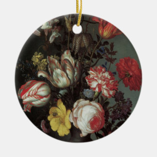 Vintage barocke Blumen durch Balthasar van Der Ast Keramik Ornament