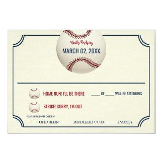 Vintage Baseball-Hochzeits-Antwort 8,9 X 12,7 Cm Einladungskarte