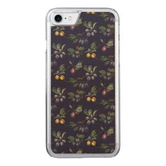 Vintage Birnen und Pflaumen Carved iPhone 8/7 Hülle