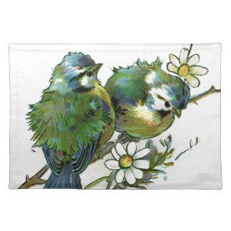 Vintage blaue Vögel Tischset
