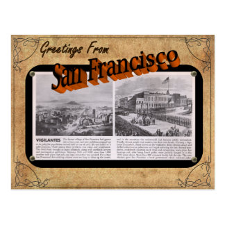 Vintage Blick-San Francisco Postkarte