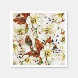 Vintage Blumen des Landvogel-Gartens Servietten