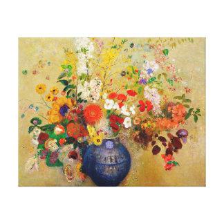 Vintage Blumen-Malerei Gespannter Galerie Druck