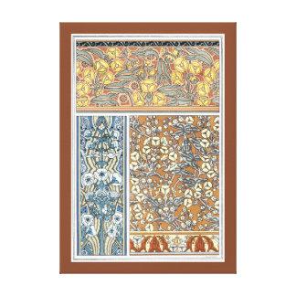 Vintage Blumenkunst Nouveau, Pfeilspitzen-Blumen Leinwanddruck