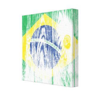 Vintage Brazil National Flag White Galerie Faltleinwand