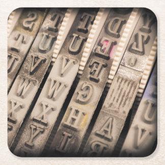 Vintage Briefmarke Rechteckiger Pappuntersetzer
