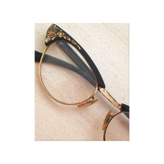 Vintage Brillen Gespannte Galeriedrucke