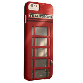 Vintage britische rote Telefonzelle Barely There iPhone 6 Plus Hülle