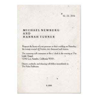 Vintage Buchhochzeitseinladung Karte