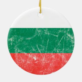 Vintage bulgarische Flagge Keramik Ornament