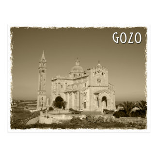 Vintage church at Gozo, Malta Postkarte