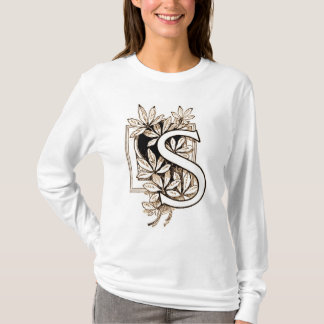 "Vintage Collage des Buchstabe-""S"" - Shirt"