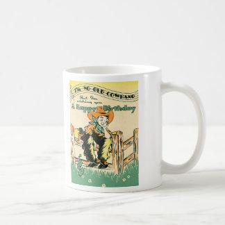 Vintage Cowboys, alles Gute zum Geburtstagalter Tasse