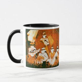 Vintage Cowboys an der Lagerfeuer-Keramik-Tasse Tasse
