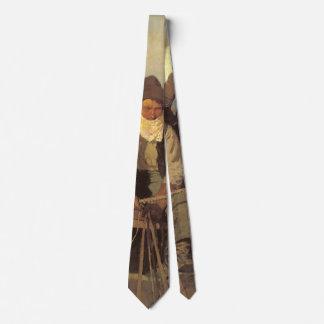 Vintage Cowboys, die Lohn-Bühne durch NC Wyeth Bedruckte Krawatten