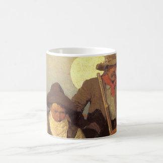 Vintage Cowboys, die Lohn-Bühne durch NC Wyeth Kaffeetasse