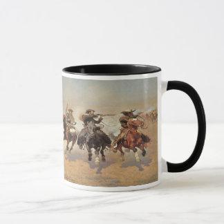 Vintage Cowboys, ein Schlag für Bauholz durch Tasse