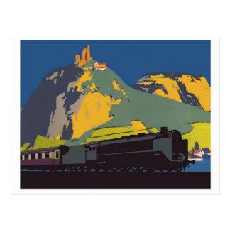 Vintage Dampf-Lokomotivpostkarte Postkarten