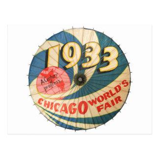 Vintage die Messe-Andenken-Kunst 1933 Chicago-Welt Postkarten