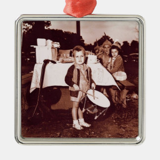 Vintage Dreißigerjahre des Silbernes Ornament