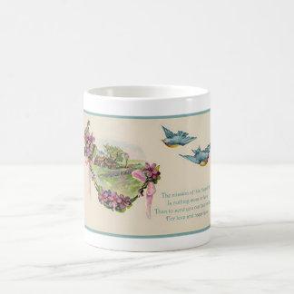 Vintage Drosseln der Mutter Tages Tasse