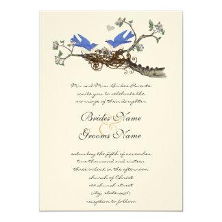 Vintage Drosseln, die Einladungen Wedding sind