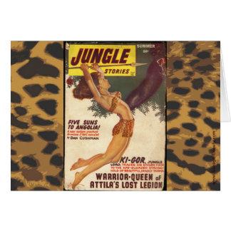 Vintage Dschungel-Massen-Abdeckung Karte