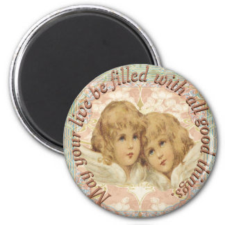 Vintage Engel alle gute Sachen Runder Magnet 5,1 Cm